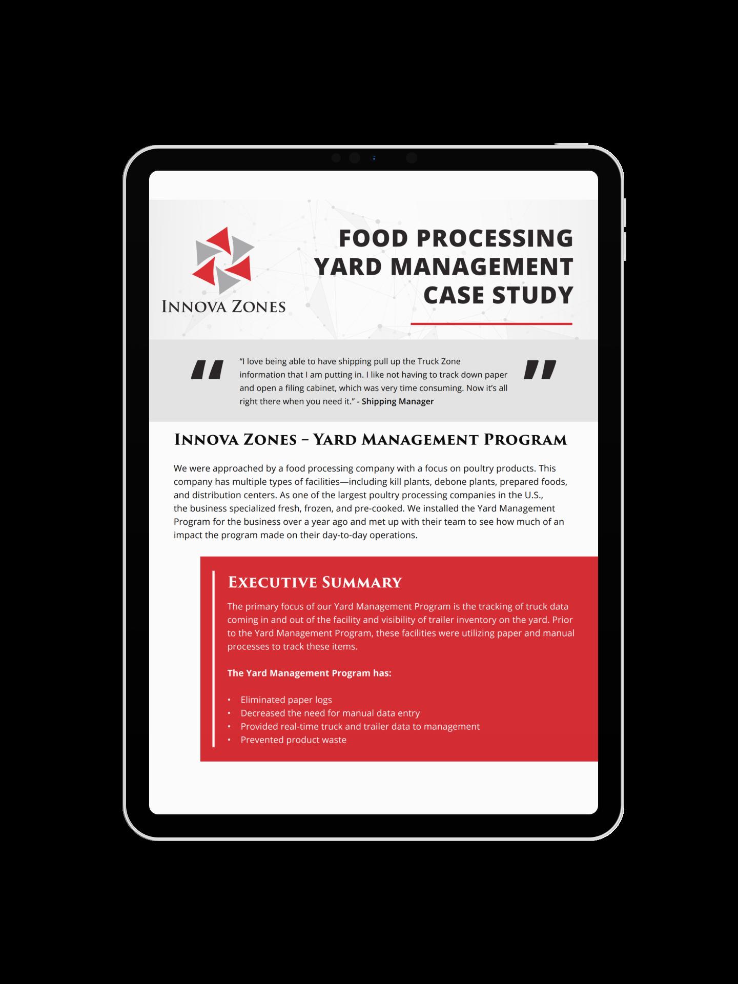 Yard Management Case Study on iPad Pro Mockup